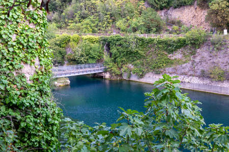stifone characteristic place for the river with blue water 写真素材