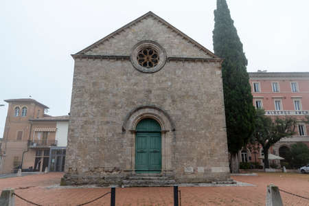 acquasparta, italy september 21 2020: interior of the cathedral of Santa Cecilia in the town of Acquasparta