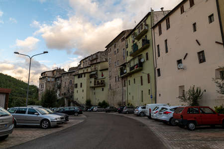 terni, italy october 16 2020: square of Emiliano Jacobelli where there is the municipality in Papigno