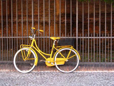 Old yellow bike photo