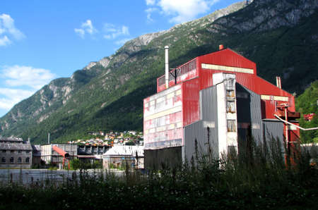 steelworks: Steelworks in Odda, Norway Stock Photo