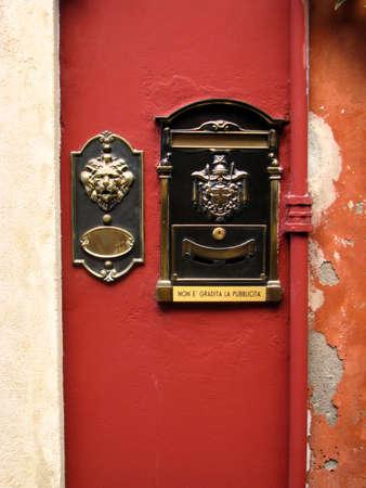 Italian post box in a wall Stock Photo - 9071378