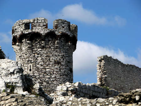 The old castle ruins of Ogrodzieniec, Poland photo