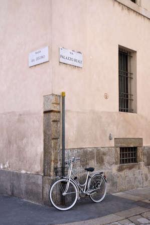 Old bike in Milan, Italy