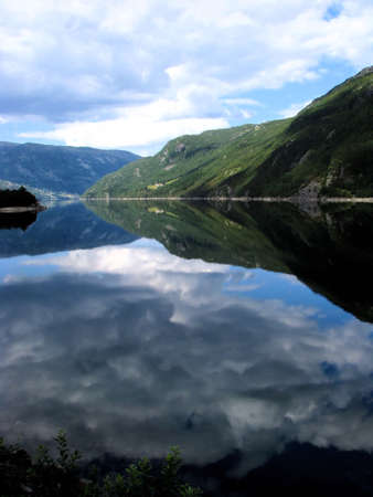 Mountain lake in Norway photo