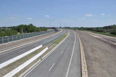 Empty new highway in Poland