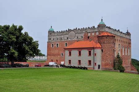 teutonic: Castello dei Cavalieri Teutonici, costruito a cavallo dei secoli 13 � e 14 �, Golub-Dobrzyn nella Polonia centrale Editoriali