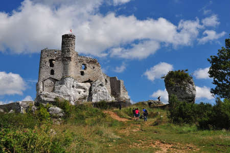 mirow: The old castle ruins of Mirow fortifications Poland. Stock Photo