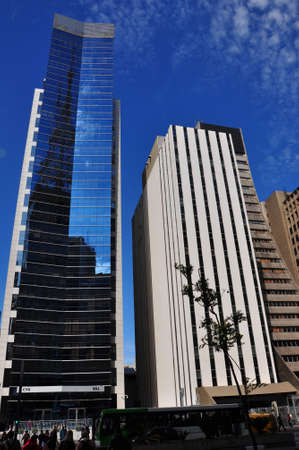 avenues: SAO PAULO - October 5: Commercial buildings on Avenida Paulista on5 October, 2014 in Sao Paulo, Brazil. Avenida Paulista is is one of the most important avenues in Sao Paulo, Brazil.
