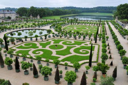 Exquisite Royal Orangery - beautiful garden of Versailles.