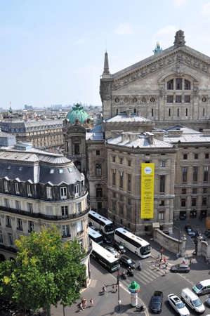 garnier: PARIS, FRANCE - JULY 2: View of Opera garnier from Galeries Lafayette on July 2, 2015 in Paris, France. Editorial