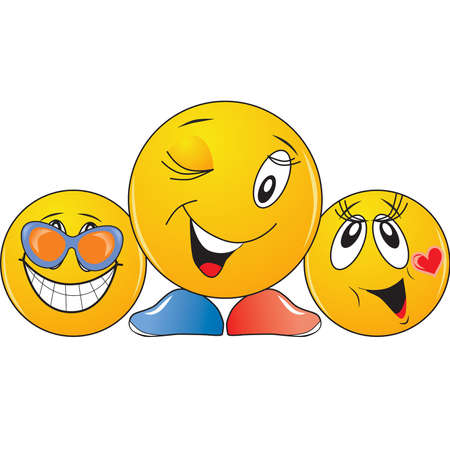 positiv: These copyrights smileys just create a good mood.