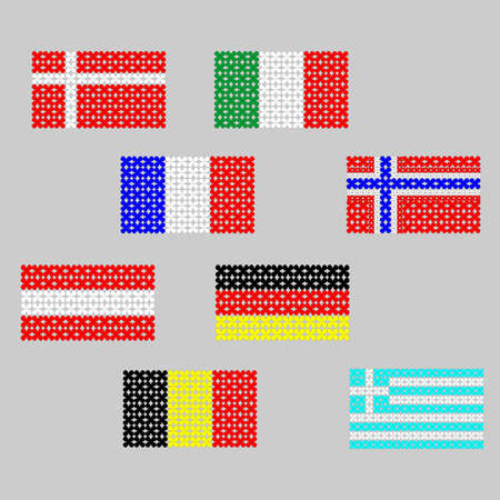 european countries: originally drawn Flags of European countries.