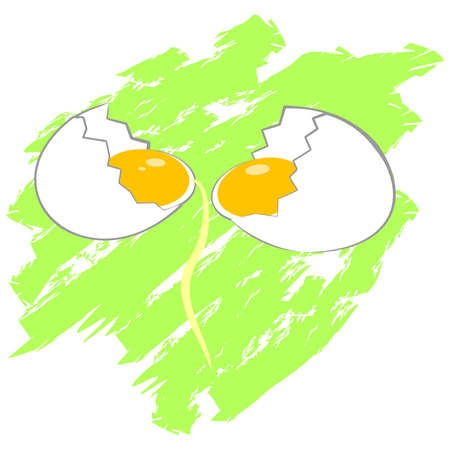 scrambled: illustration with the image of eggs. Illustration