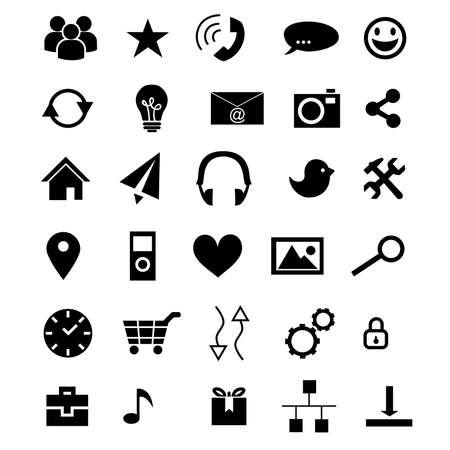 set of icons devoted to information technologies . Vector