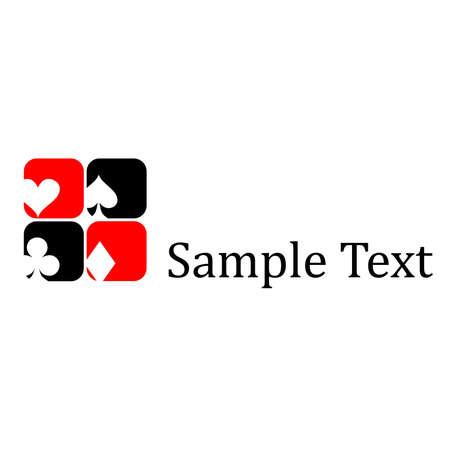 pictogrammen en logo op het onderwerp van speelkaarten.
