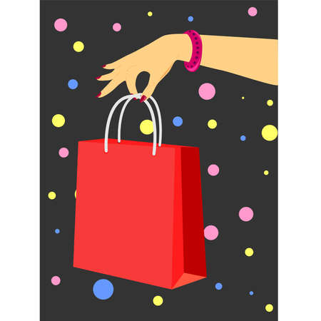 Bright and original illustration for greetings, offers or other needs of your company. Vector