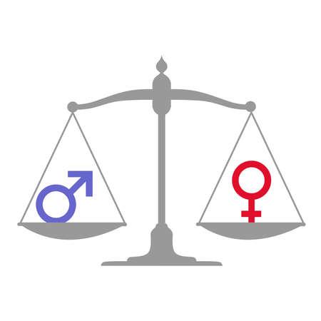 男女共同参画に専用の図。  イラスト・ベクター素材