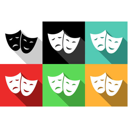 set of icons dedicated to arts. Vector