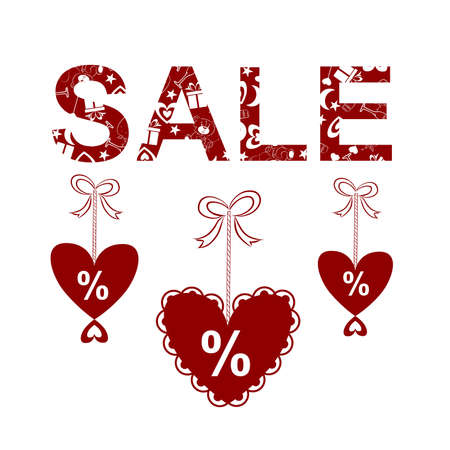 holiday profits: illustrations dedicated to the sale of Valentines Day Illustration