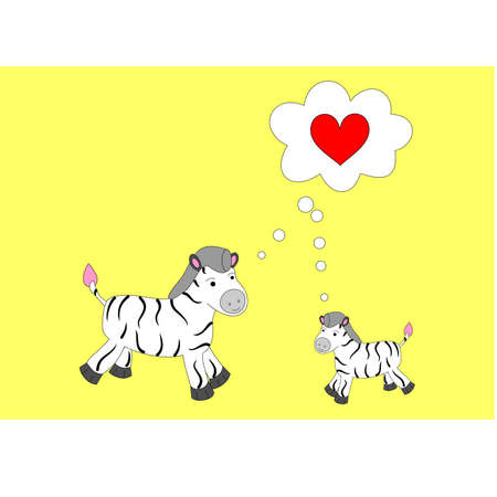 good quality: cute zebras in good quality will create a positive mood and cause a smile. Illustration