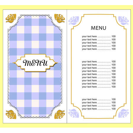 master page: illustration with beautiful template of menu.