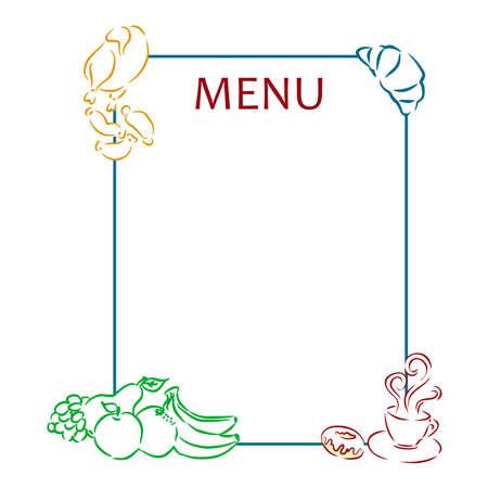 master page: beautiful and  original  menu in retro style.