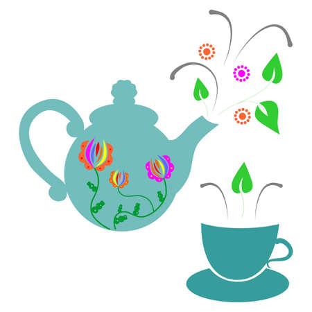 herbal tea: Illustration dedicated to herbal tea.