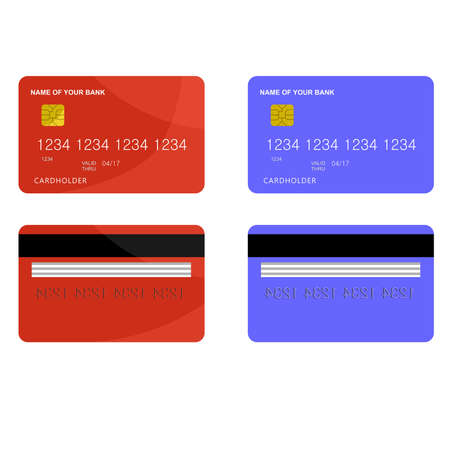 Illustration dedicated to bank card. Vector