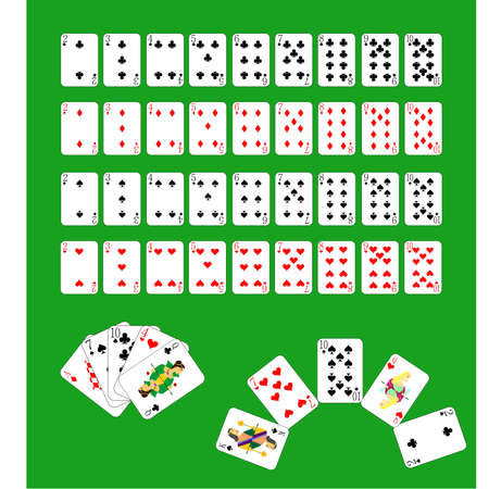 solitaire: deck of cards of all kinds and combinations of them.