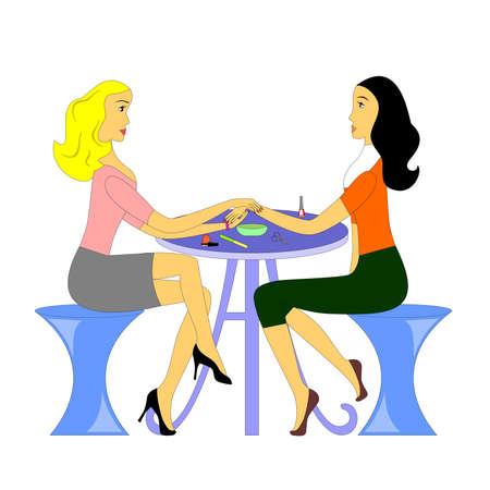 nail file: the Illustration dedicated to beauty salon. Illustration