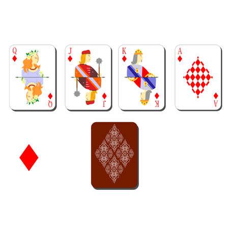 jack of diamonds: beautiful and original designer playing cards.