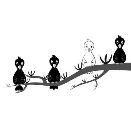 seem: the illustration dedicated to the  white crow.