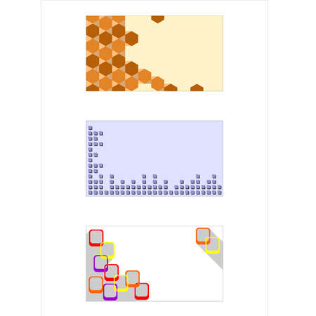 substrate: ilustraci�n dedicada a la plantilla para tarjetas de visita. Vectores