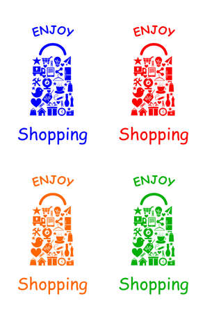 vector illustration dedicated to the shopping bag. Vector