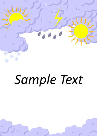 granizo: ilustraci�n vectorial dedicada a la previsi�n del tiempo.