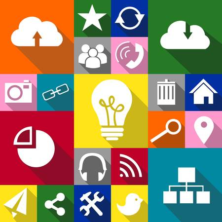 set of icons devoted to information technologies. Vector