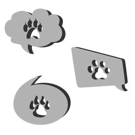 vector illustration dedicated to the pet trails. Vector