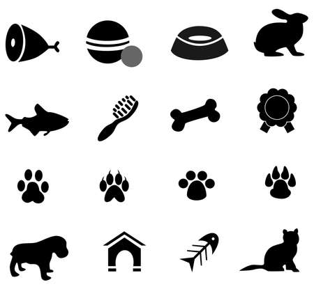 vector illustration dedicated to the pets and things associated with them. Vector