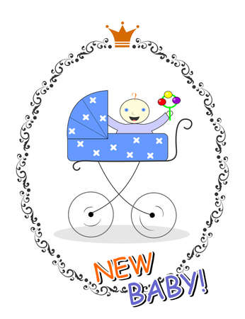 new baby: the illustration dedicated to the new baby. Illustration