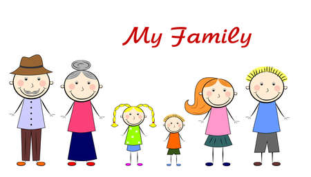 the vector illustration dedicated to the friendly family. Vector