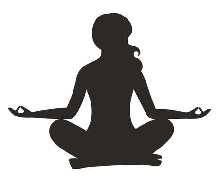 tranquility: the illustration dedicated to the meditation.