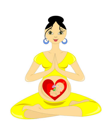 the illustration dedicated to the pregnant women. Vector