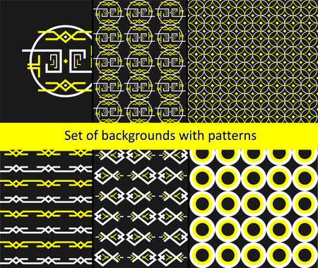 ligature: the Illustration dedicated to the pattern background set.