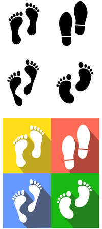 foot marks: the vector Illustration dedicated to the foot marks