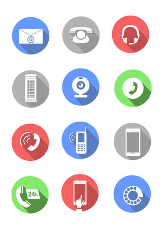 skype: vector set of icons on a theme of phones Illustration