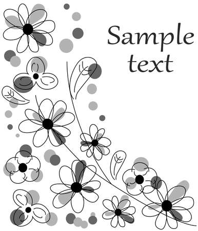 colorful slide: the Illustration dedicated to the beautiful flower template.