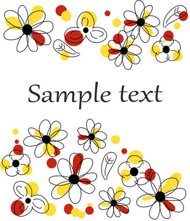 beautiful flower: the Illustration dedicated to the beautiful flower template.