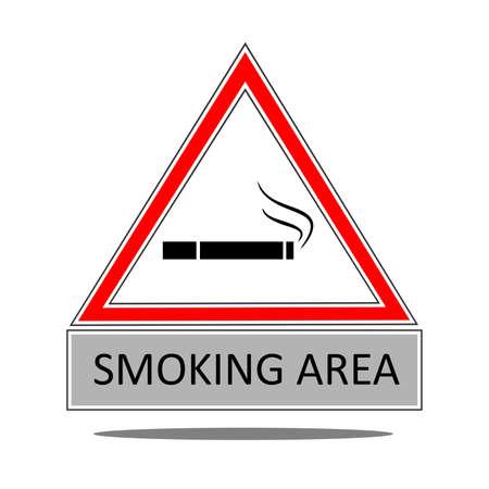 bad habit: the illustration dedicated to the smoking area,