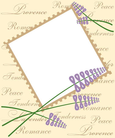 provence: beautiful and tender template in the style of Provence with lavender.